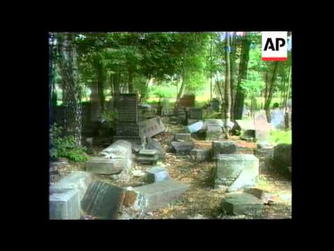 Lithuania - Jewish Graves Desecrated