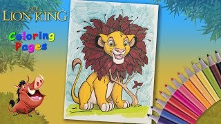 Young Simba Coloring page. Lion King coloring book. How to draw a lion from your favorite cartoon.