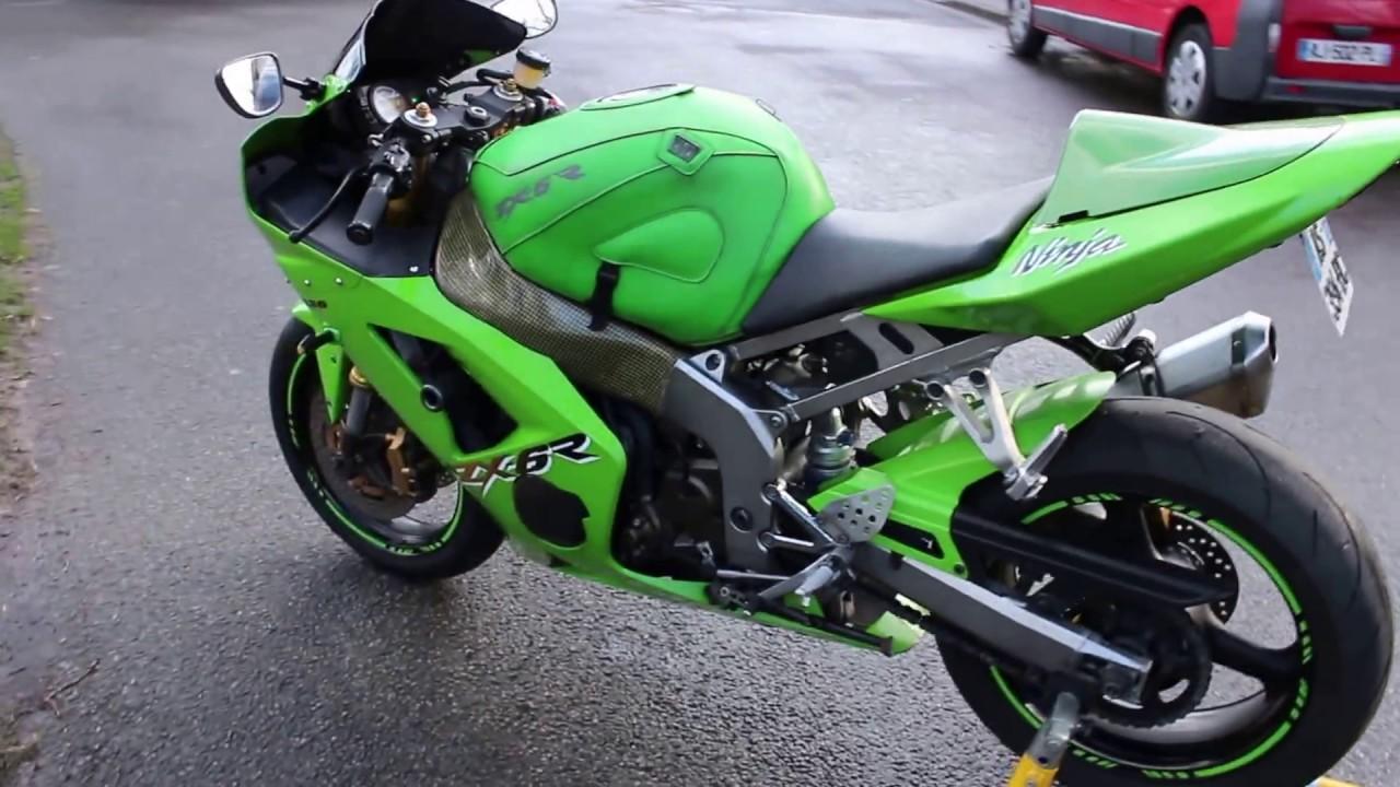 ZX6R 636 Ninja 2003 2004 03 04 Akrapovic - YouTube