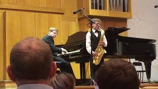 "Иван Байбородин, 6 лет, саксофон. Моррис Альберт, ""Чувства"", Morris Albert, ""Feelings""."