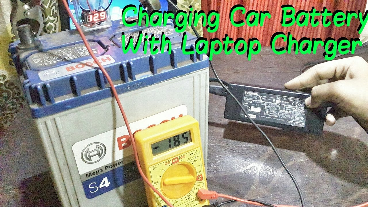 Charge Your Car Battery With Laptop Charger Youtube