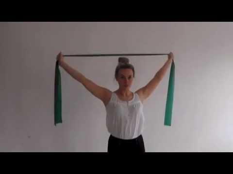 Theraband shoulder strengthening latissimus dorsi - YouTube