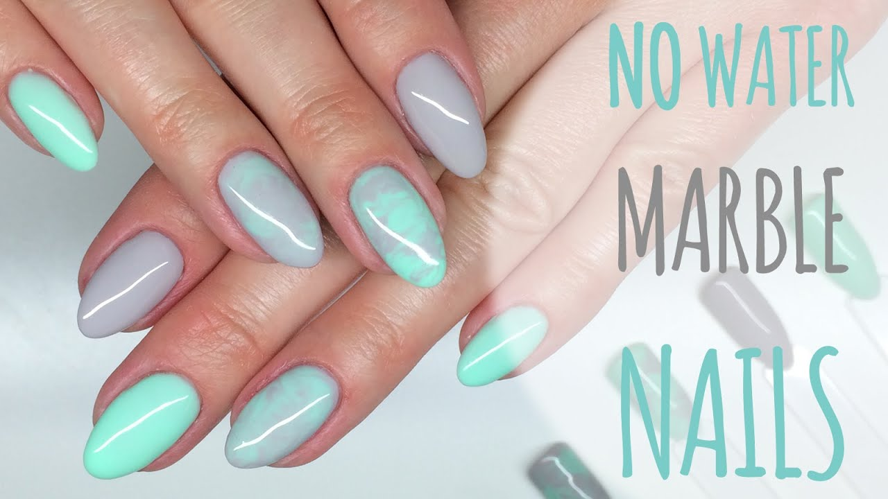 NO Water Marble Nails (gel polish) | manicure hybrydowy ▻ CHIODO ...