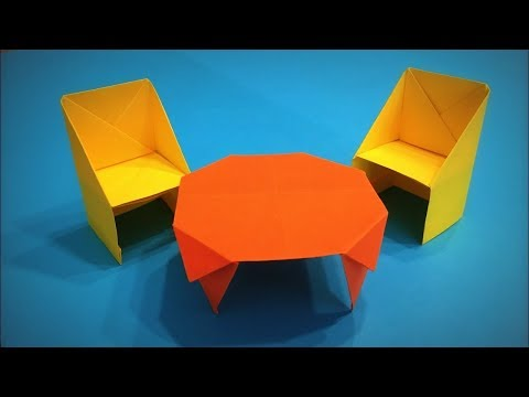 How to Make a Paper Table and Chair DIY - Easy Origami Step by Step