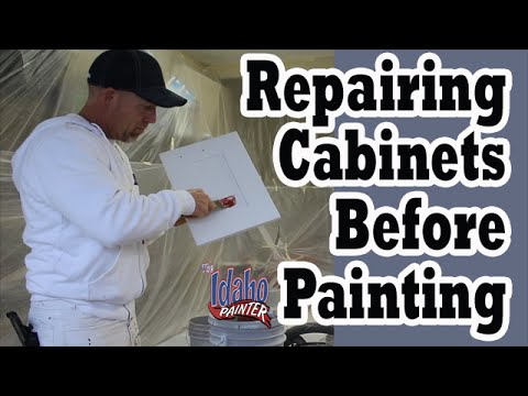 How To Paint Kitchen Cupboards.  Painting cabinets.