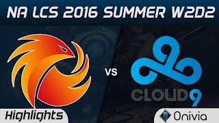 p1 vs c9 highlights game 1 na lcs 2016 summer w2d2 pheonix1 vs cloud9