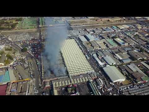 Lusaka market -  burnt droneview
