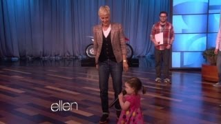 Web Exclusive: Ellen and a Cute Little Girl