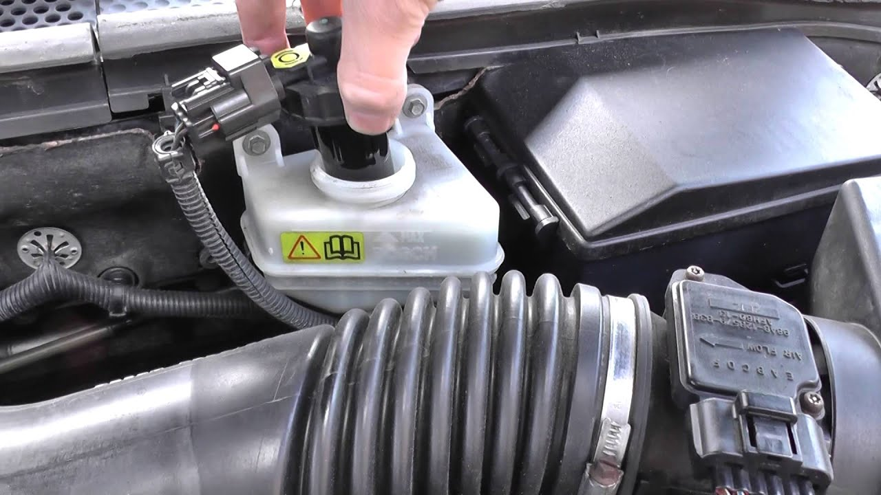 ford focus brake fluid top  location video youtube