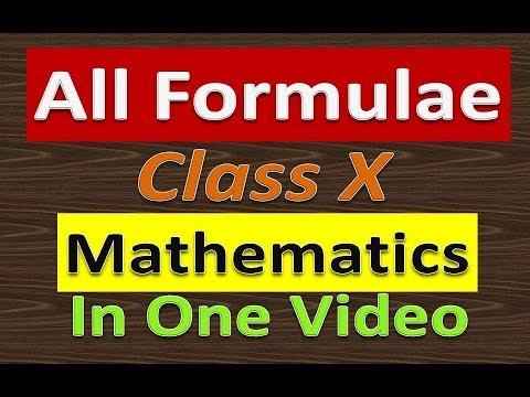 All Formulae For Maths Class 10  CBSE Board  Haryana Board  NCERT