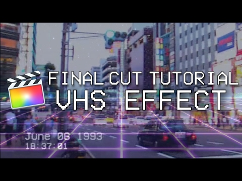 Create VHS Effect - 80s/90s Look On Your Footage! (Final Cut