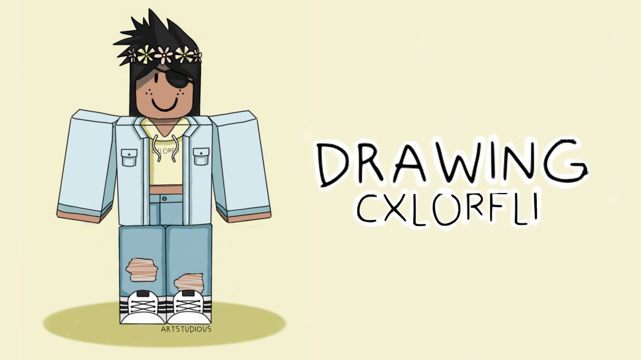 Drawing Cxlorfli How To Draw Roblox Characters Youtube