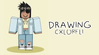 Drawing cxlorfli! [How to Draw Roblox Characters]
