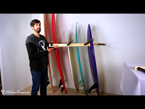 Vertical Surfboard Wall Rack | Wood Surf Rack | StoreYourBoard