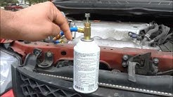 How To Refill AC Refrigerant In A Car (R134a)- FULL Tutorial