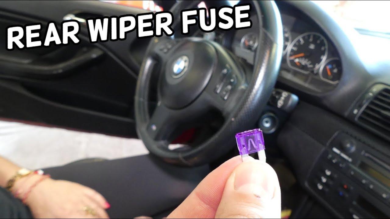 Rear Wiper Fuse Location Replacement Bmw E46 325i 330i 328i 320i