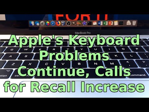 Apple's Keyboard Problems Continue for Macbook Pro 2016-17 and Macbooks 2015-17