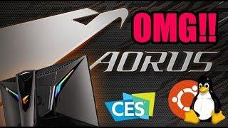 OMG!! workstations con Linux y Aorus, Monitor Gamer táctico, RTX 2060 en CES2019 - Droga Digital