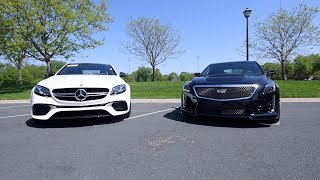 2018 Cadillac CTS-V vs. Mercedes-Benz E63 S AMG | Driving Review