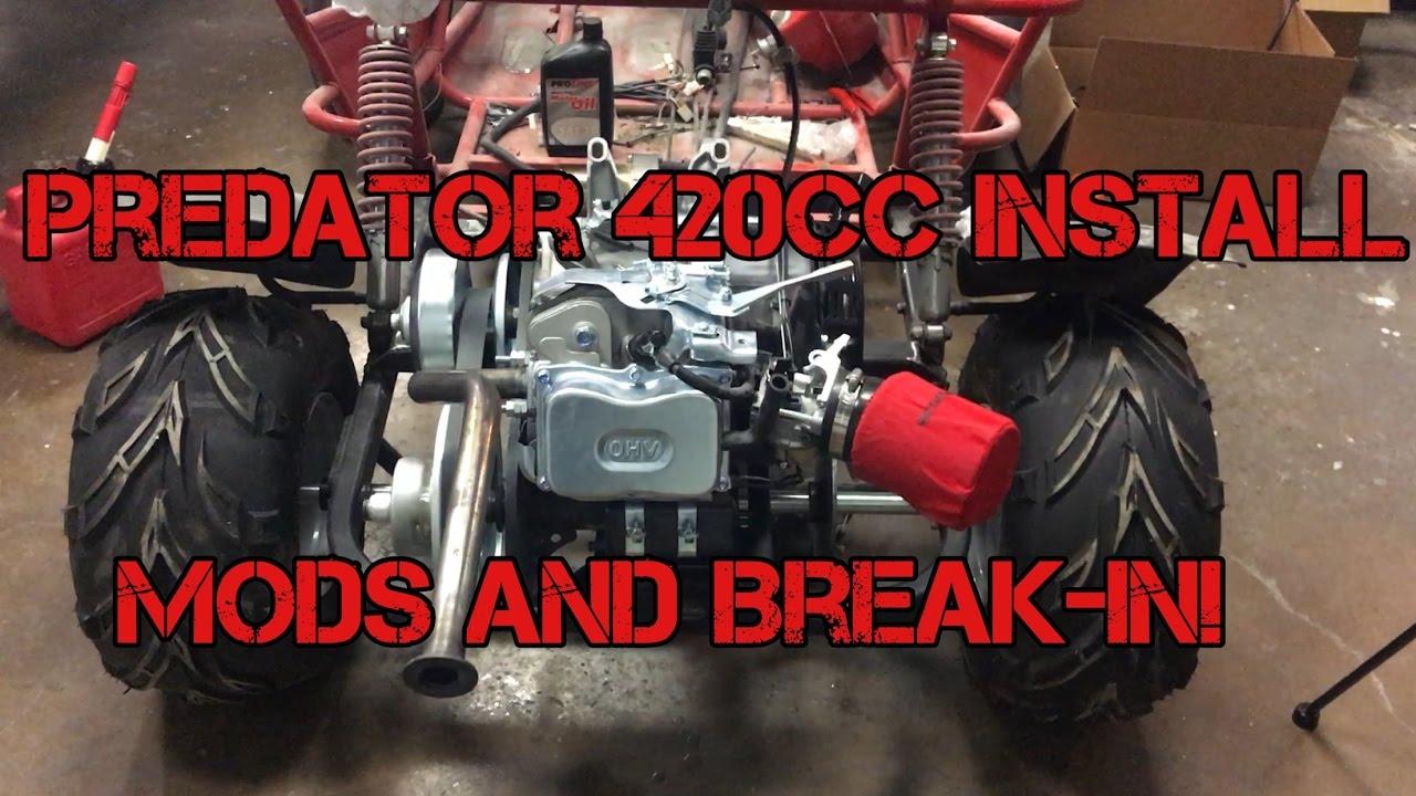 Kart-It: GoPowerSports OffRoad GoKart 420cc Predator Engine Install and  Break In!