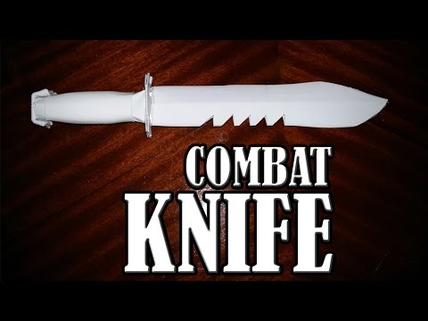 How to make a paper combat knife - paper weapons