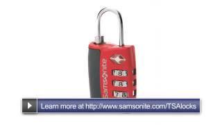 tsa lock instructions samsonite suitcase