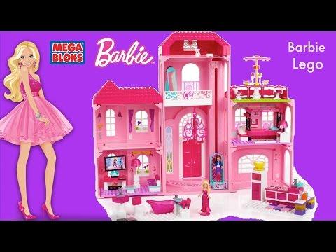 Mega Bloks Barbie Luxury Mansion Barbie Life in the Dream house MegaBloks Compilation