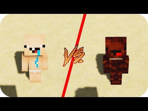 Casa Bebe Nubi VS Casa Niño Caca - Minecraft