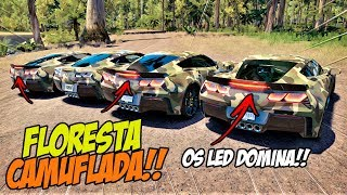 SÓ AS LANTERNA DE LED!! - FLORESTA CAMUFLADA - FORZA HORIZON 3