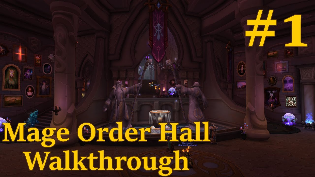 World of warcraft legion mage order hall walkthrough 1 hall world of warcraft legion mage order hall walkthrough 1 hall of the guardian youtube gumiabroncs Images