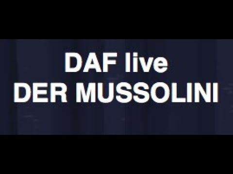 DAF playing MUSSOLINI in LONDON UK MARCH 2009 ;)  80s german industrial  band