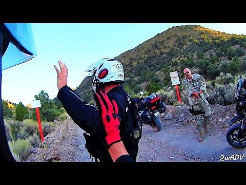 HELD AT GUNPOINT BY CAMO-DUDES @ AREA 51 SECRET BACK GATE!! 2wADV