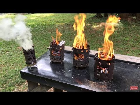 4 Different Styles Of Hobo Stoves SHOWING OUT!!! EDC, Tulip Poplar Bark Processing