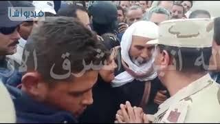 محافظ البحيرة ومساعد قائد المنطقة الشمالية يشاركان فى جنازة الشهيد المجند: محمد إبراهيم جمعه سعفان