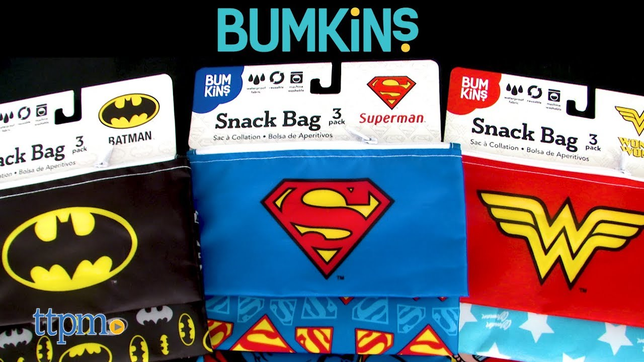Dc Heroes Snack Bag 3 Pack From Kins