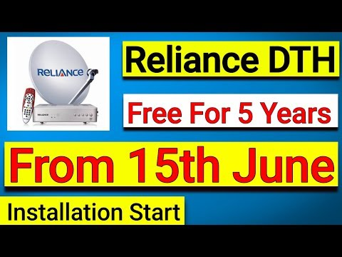 Reliance Digital TV Free For 5 Years & Installation From 15th-June-2018