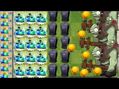 Plants vs. Zombies 2 New Bowling Bulb vs Massive Zombie Attack!