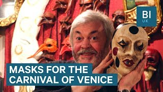 Here's the painstaking, 2-week process that goes into making masks for the Carnival of Venice