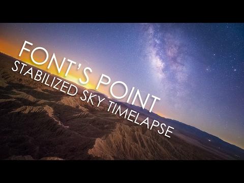 The Milky Way from Anza Borrego desert, a sky-stabilized timelapse