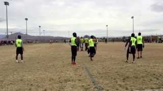 Drew Kobayashi (grey hoodie) Pylon 7 on 7 flag football 2/28-29/15