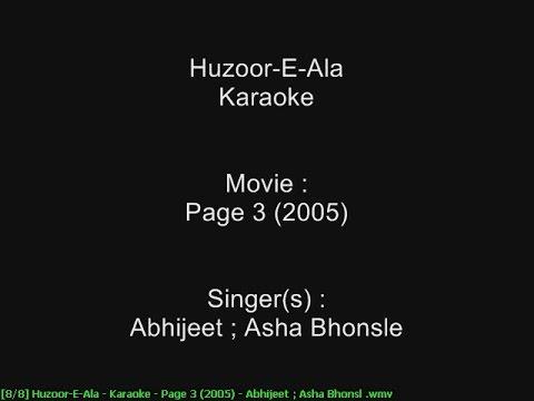 Huzoor-E-Ala - Karaoke - Page 3 (2005) - Abhijeet ; Asha Bhonsle
