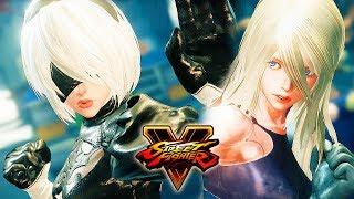 Street Fighter 5 - 2B vs A2 (NieR:Automata) Gameplay PC Mod @ 1080p (60ᶠᵖˢ) HD ✔