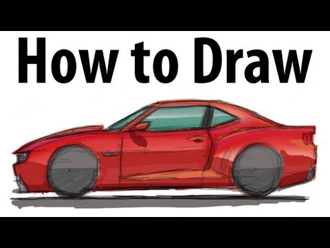 How To Draw A Chevrolet Camaro Sketch It Quick Youtube