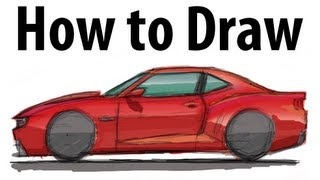 How to draw a Chevrolet Camaro  - Sketch it quick!