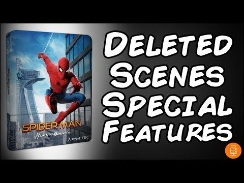 Spider-Man Homecoming 4K/BluRay Deleted Scenes & Special Features Detailed