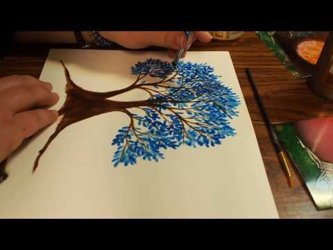 The Blue Tree - ACRYLIC PAINTING (read the description please)