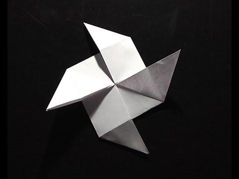 origami pliage papier h lice vent youtube. Black Bedroom Furniture Sets. Home Design Ideas