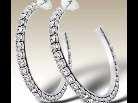 alisilverjewellery.com: Sterling silver earrings with Crystal jewelry wholesale