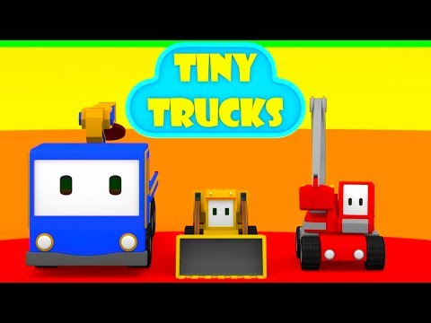 The Cinema - Learn with Tiny Trucks: bulldozer, crane, excavator , Educational cartoon