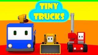 The Cinema - Learn with Tiny Trucks: bulldozer, crane, excavator , Educational cartoon